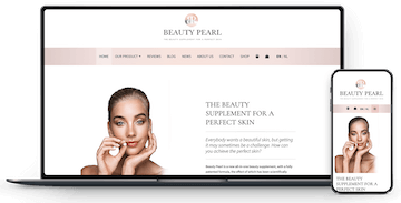 Portfolio website schoonheid supplement