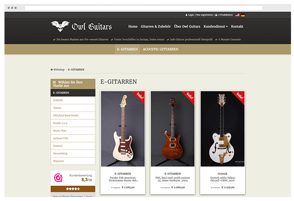 Meest recente project owl guitars