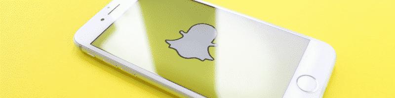 Snapchat in een mobiel
