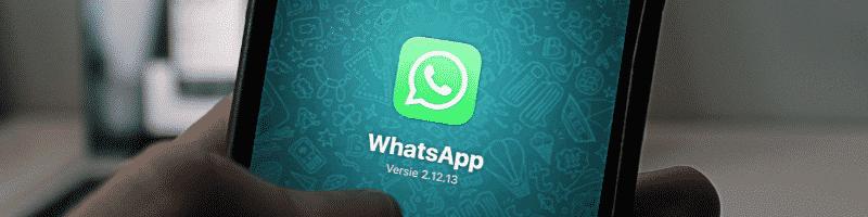 WhatsApp op mobiel
