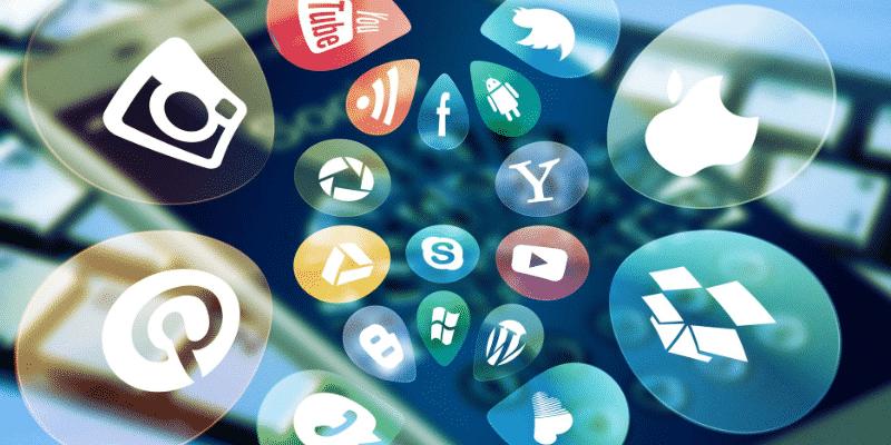 Verschillende social media platformen